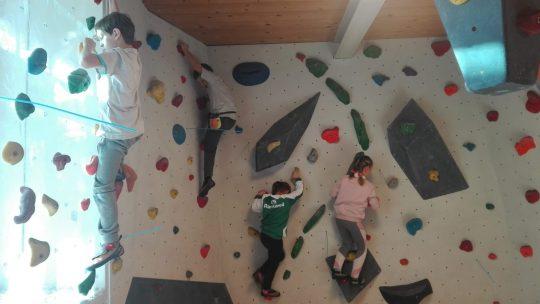 Spaß in der Boulderhalle